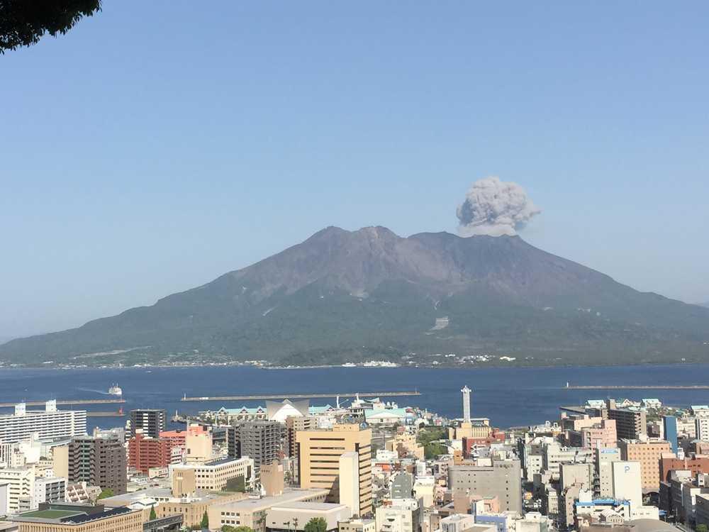 2015年4月17日の桜島噴火画像