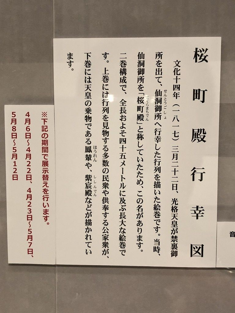 「桜町殿行幸図」の説明