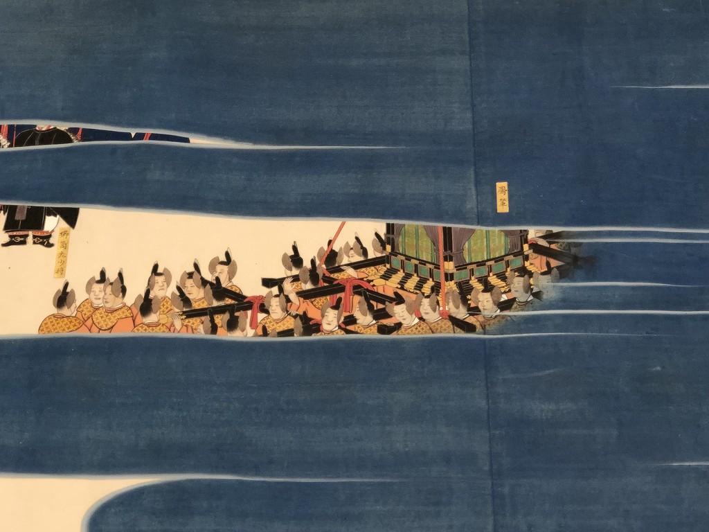 「桜町殿行幸図」の光格天皇が乗る鳳輦