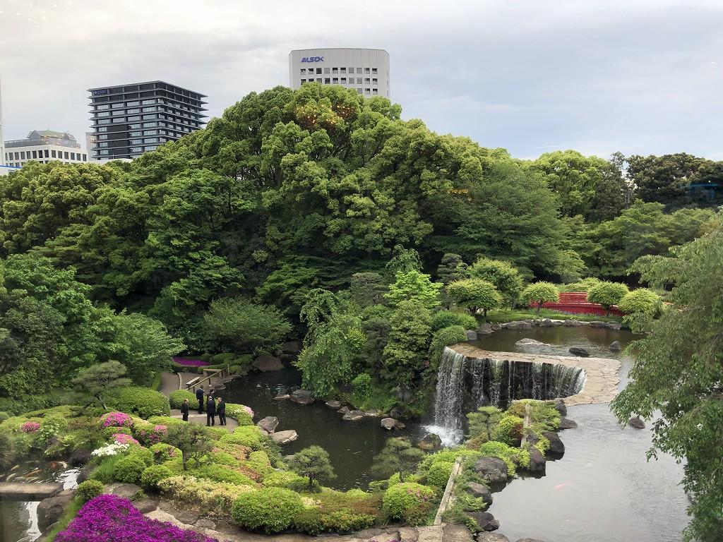 ホテルニューオータニ東京のガーデンラウンジからの眺め
