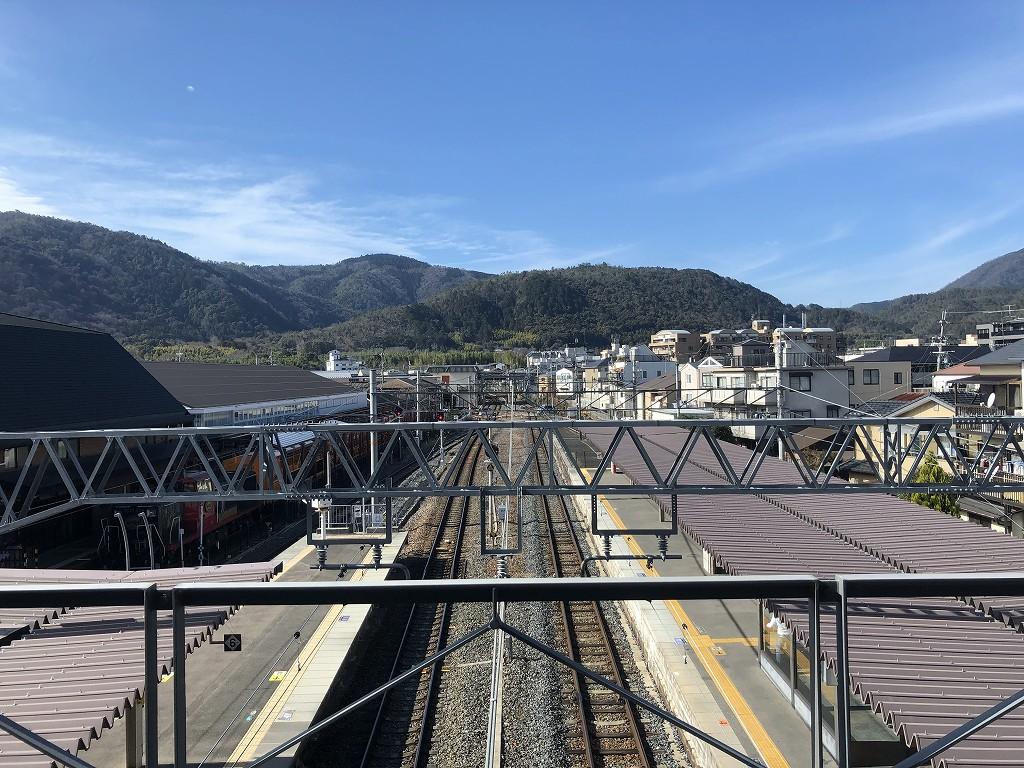 嵯峨嵐山駅から見た小倉山