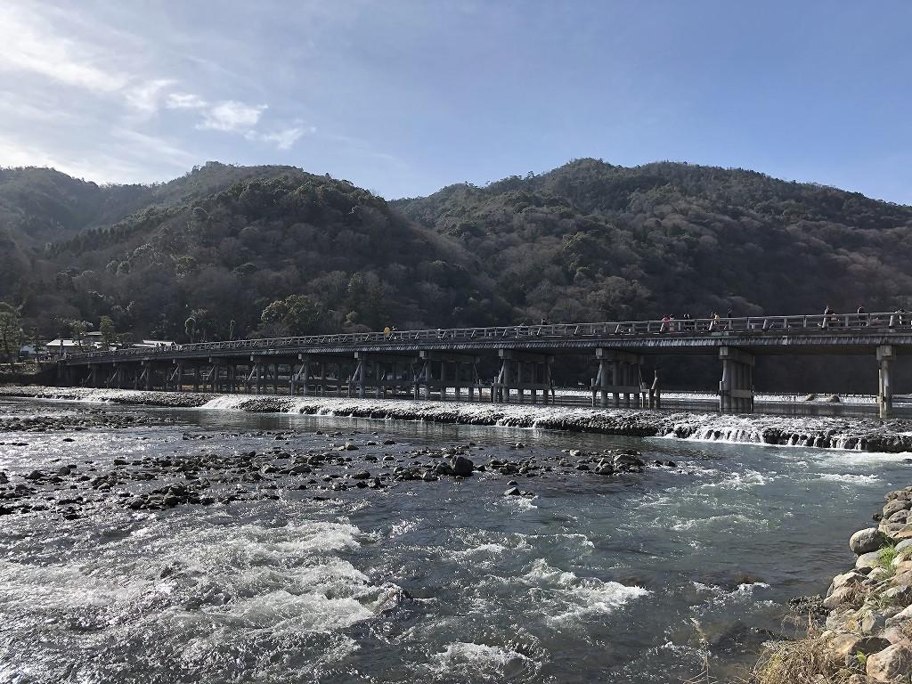 日曜日午後の渡月橋2