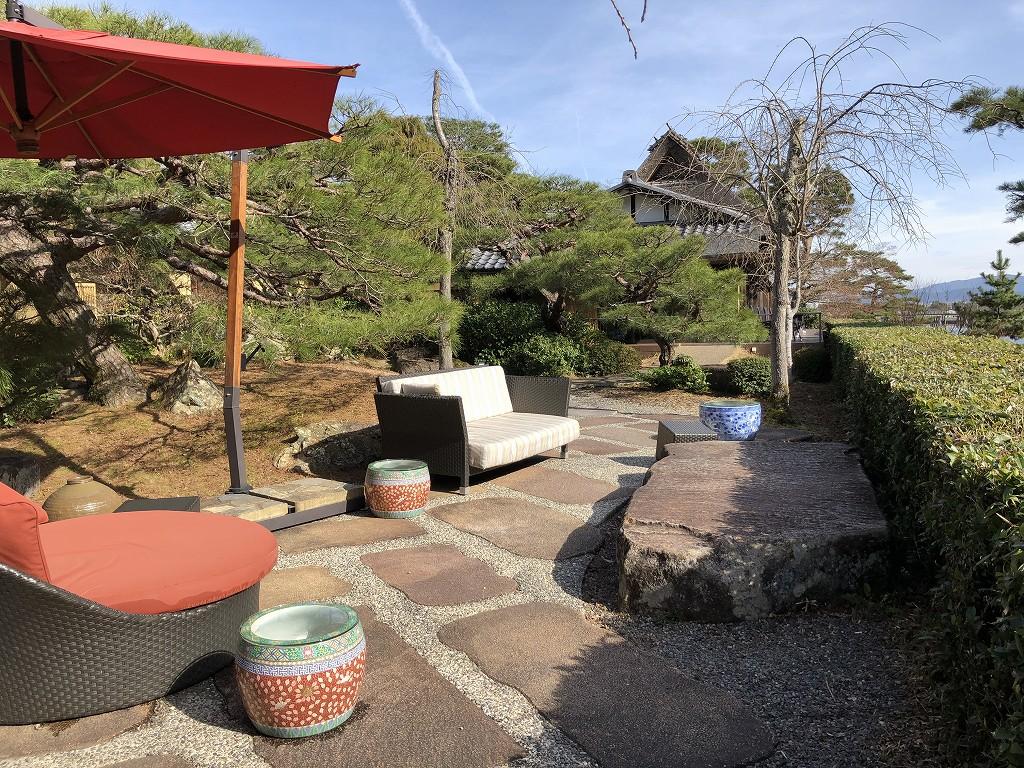 翠嵐ラグジュアリーコレクションホテル京都の中庭1