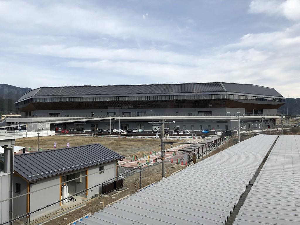 亀岡駅から見たサンガスタジアム