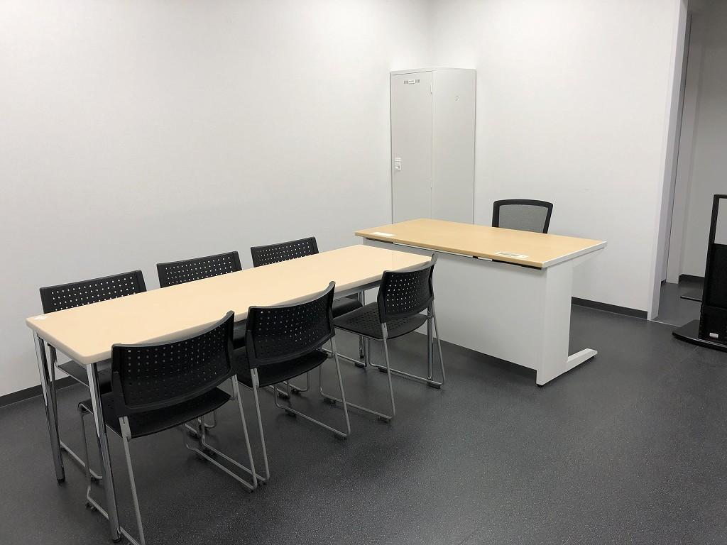 サンガスタジアムの内覧会の監督室