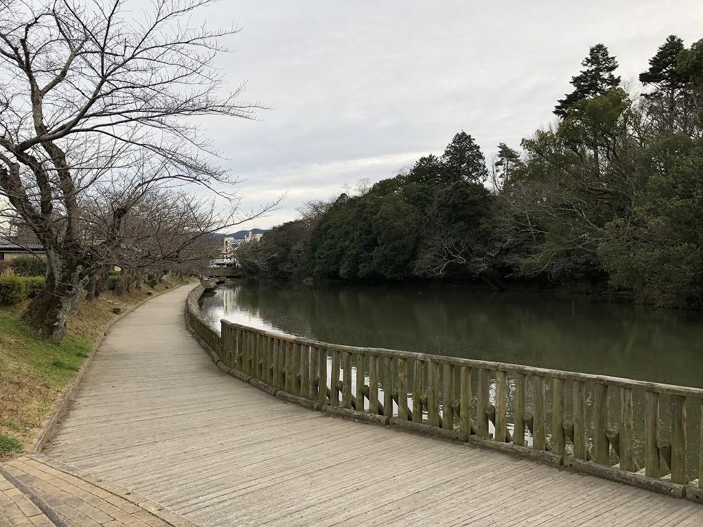 南郷池の遊歩道