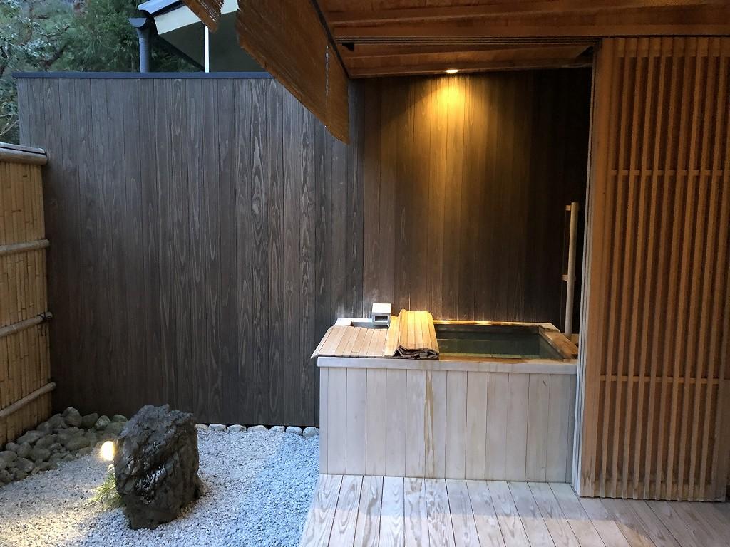翠嵐ラグジュアリーコレクションホテルの柚葉の露天風呂2