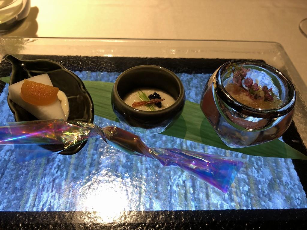 翠嵐ラグジュアリーコレクションホテルの「京 翠嵐」の前菜
