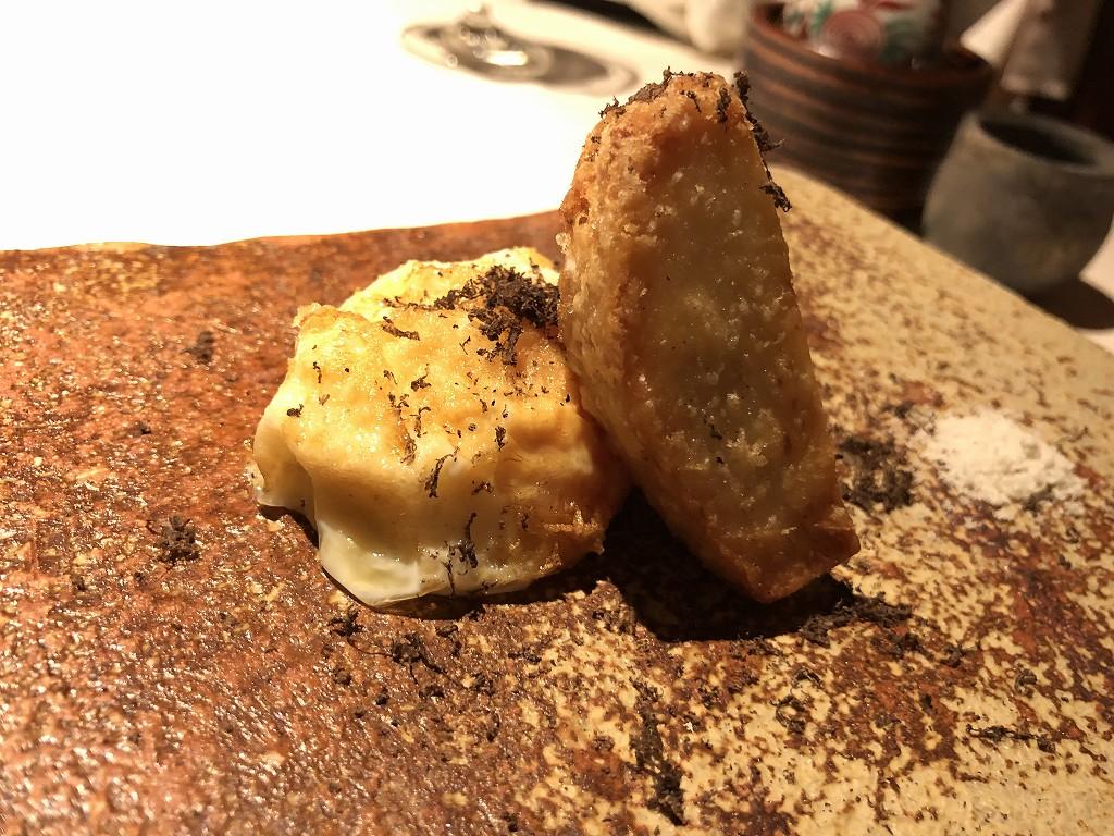 翠嵐ラグジュアリーコレクションホテルの「京 翠嵐」の海老芋と卵のフライ