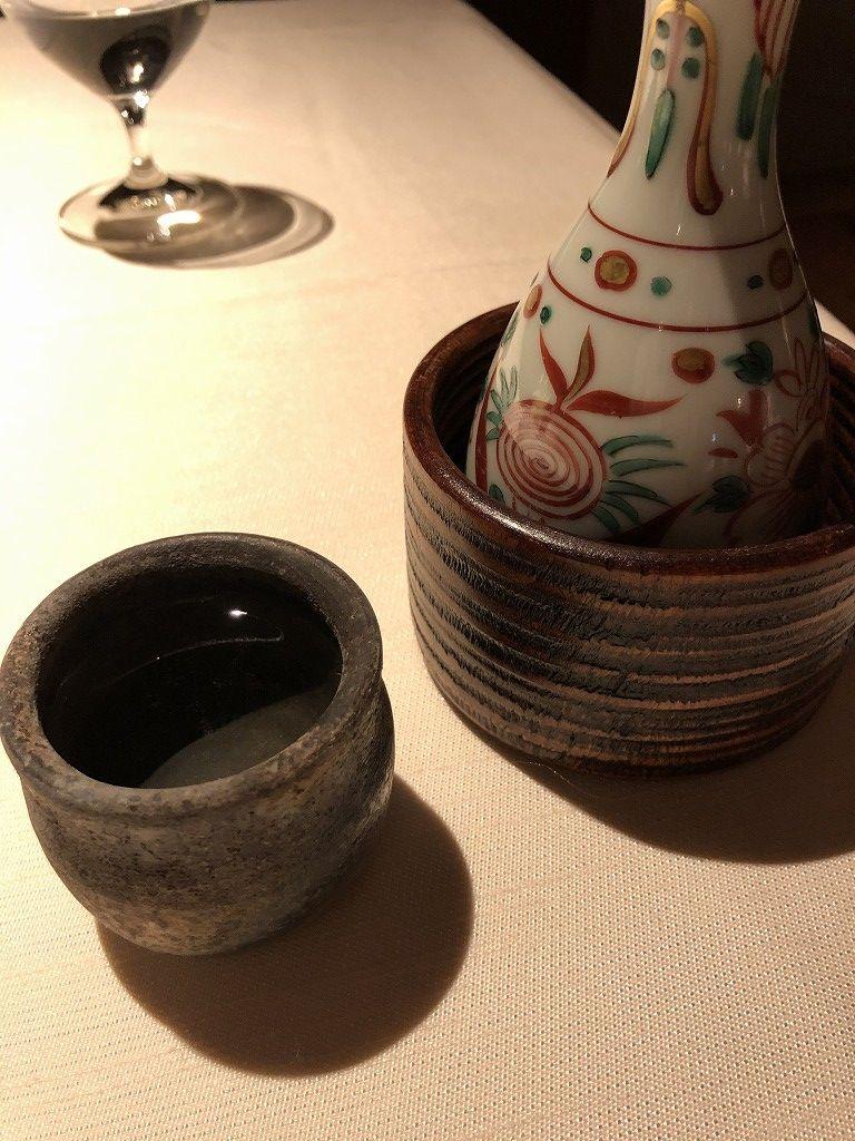 翠嵐ラグジュアリーコレクションホテルの「京 翠嵐」の日本酒(熱燗)