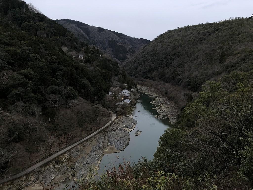 早朝の亀山公園から保津峡2