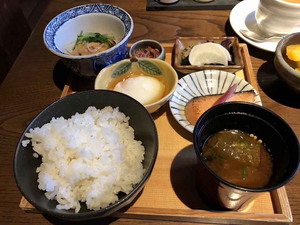 翠嵐ラグジュアリーコレクションホテル京都の朝食の和定食