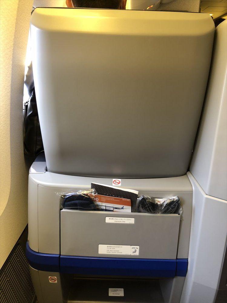 ANA63便のプレミアムクラスの3A席