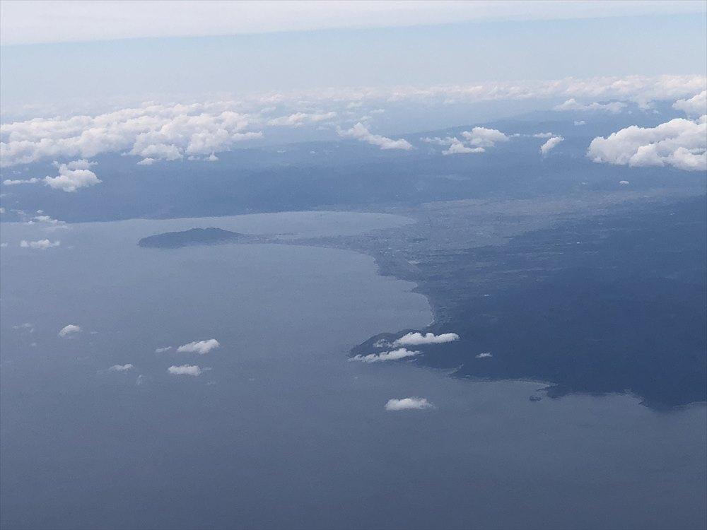 ANA63便から見た函館半島