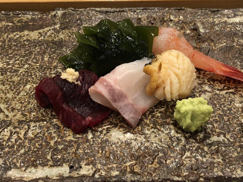 札幌の鮨 西光の石鯛とつぶ貝
