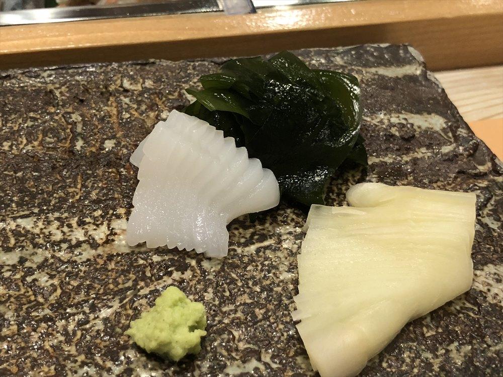 札幌の鮨 西光のアオリイカ