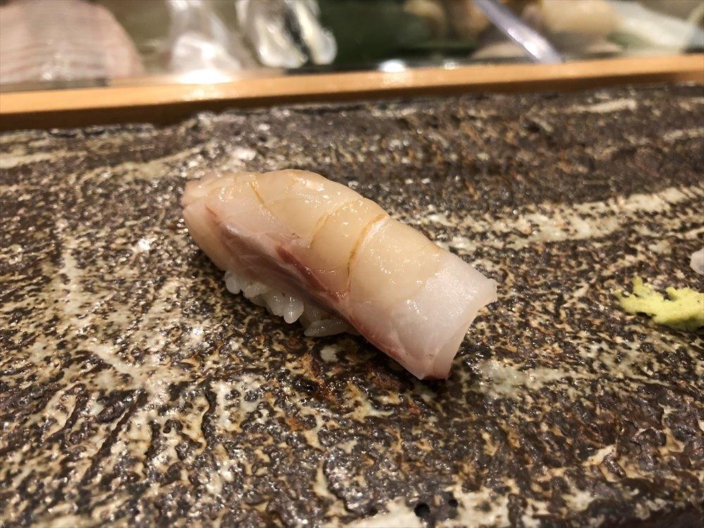 札幌の鮨 西光の石鯛
