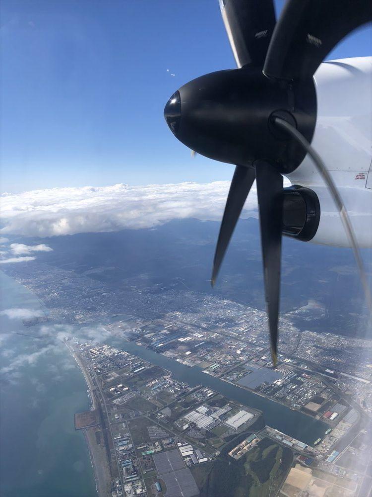ANA1226便からの苫小牧市上空