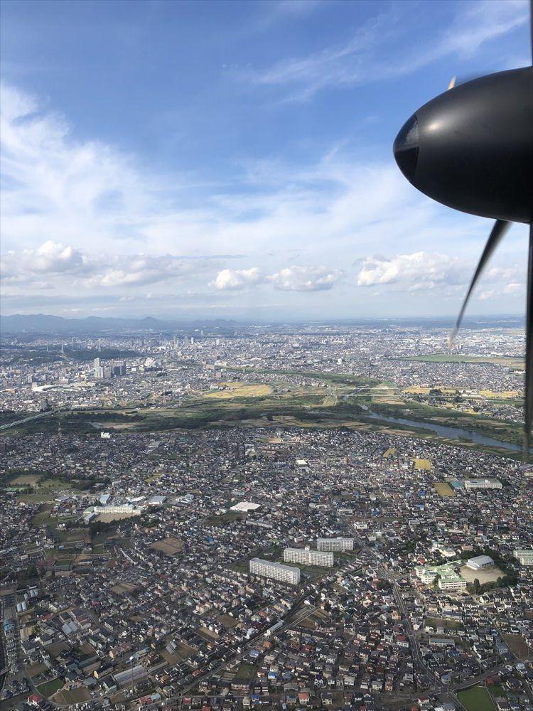 ANA1226便の仙台空港アプローチ2