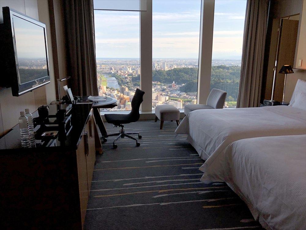 ウェスティンホテル仙台のクラブプロアプレミアルーム1