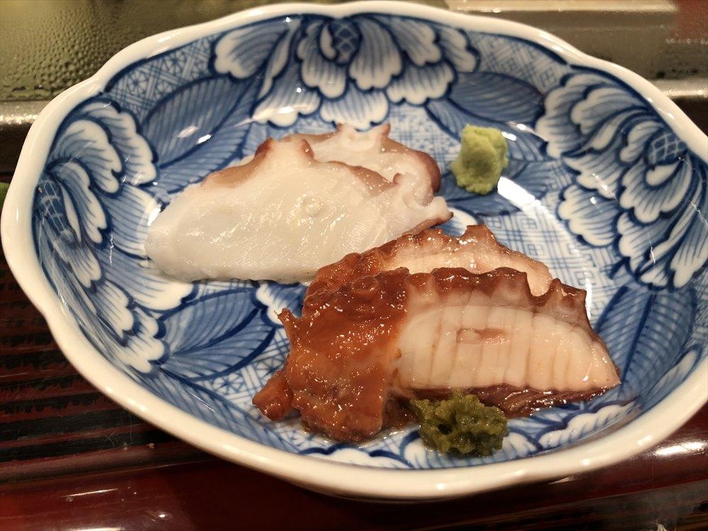 仙台 文化横丁の新富寿司の煮ダコ