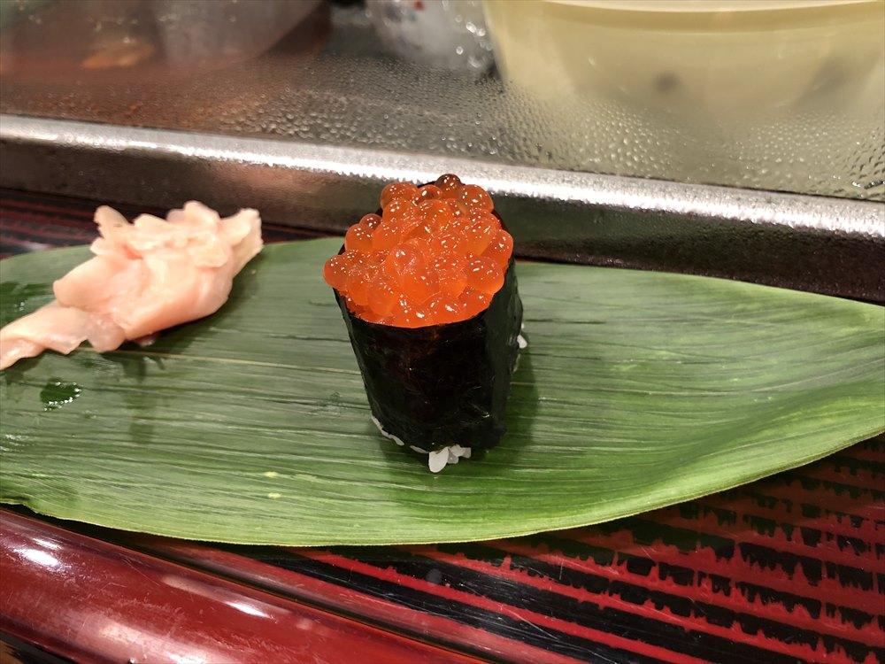 仙台 文化横丁の新富寿司のいくら