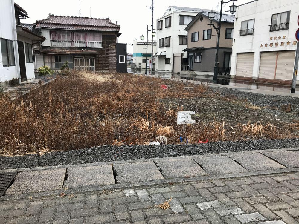 浪江駅前の家屋解体工事済みの場所1