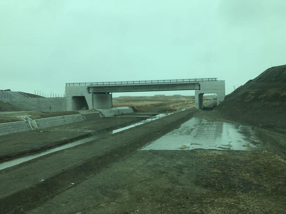 相馬郡新地町の堤防