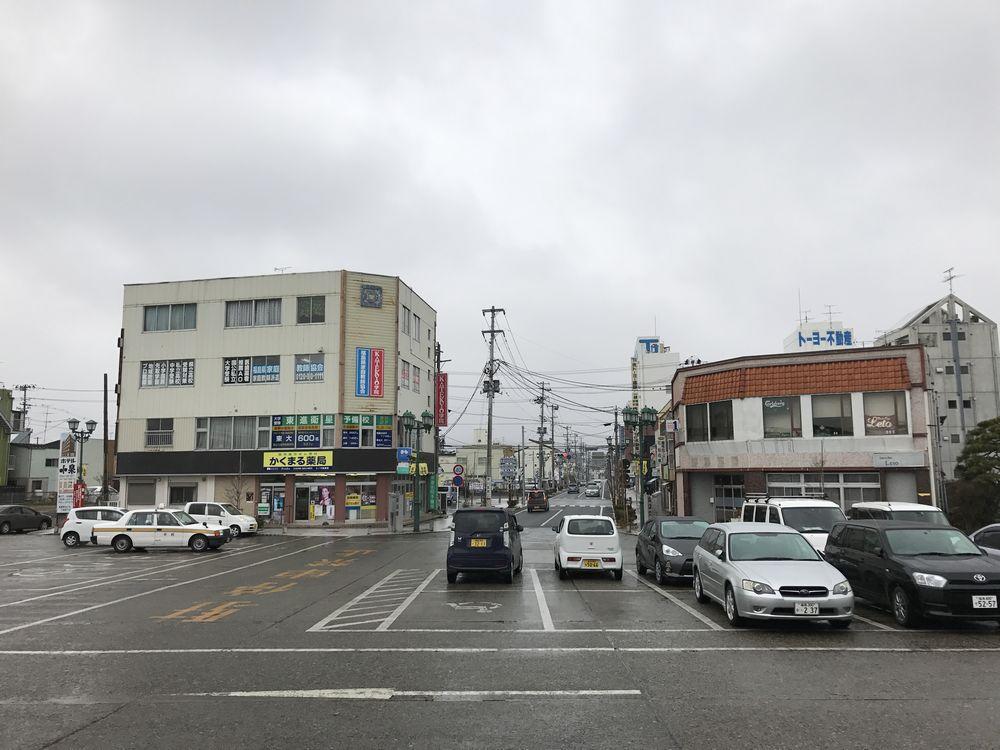 相馬駅駅前の風景