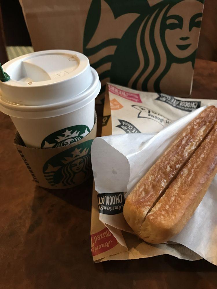 スターバックスのコーヒーとパン