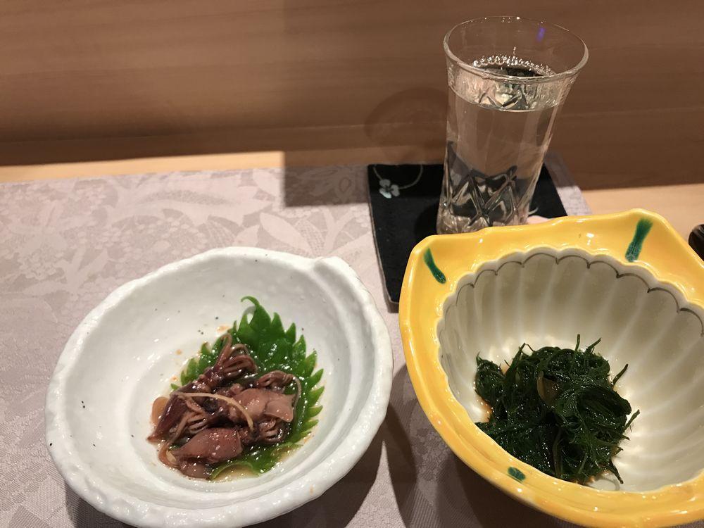 仙台「鮨一郎」のお通し