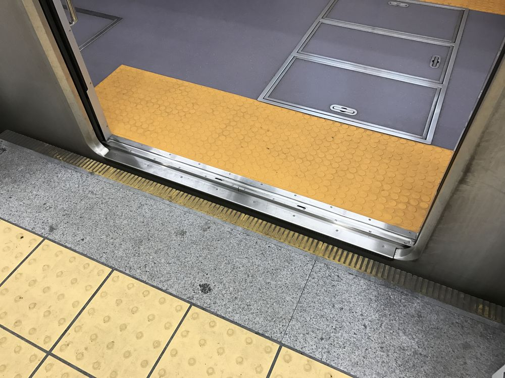 ホームと電車の間に段差・隙間のない仙台地下鉄東西線