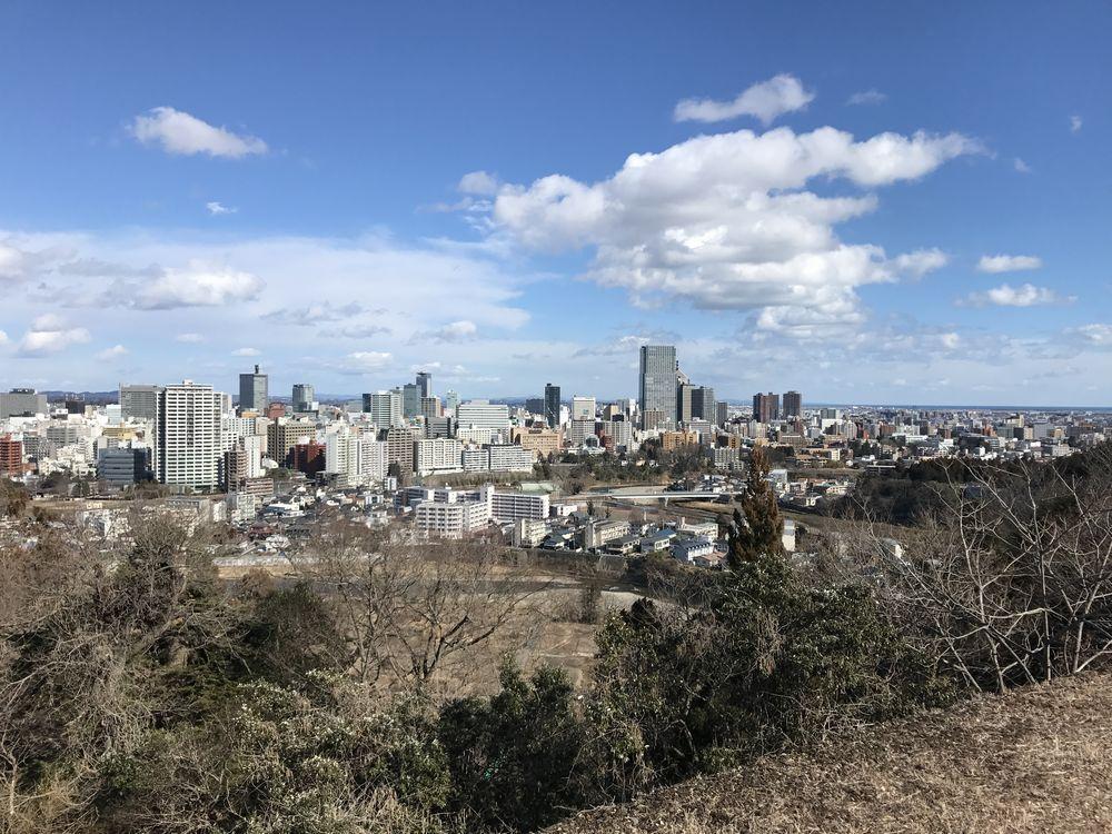 青葉城から仙台駅方面
