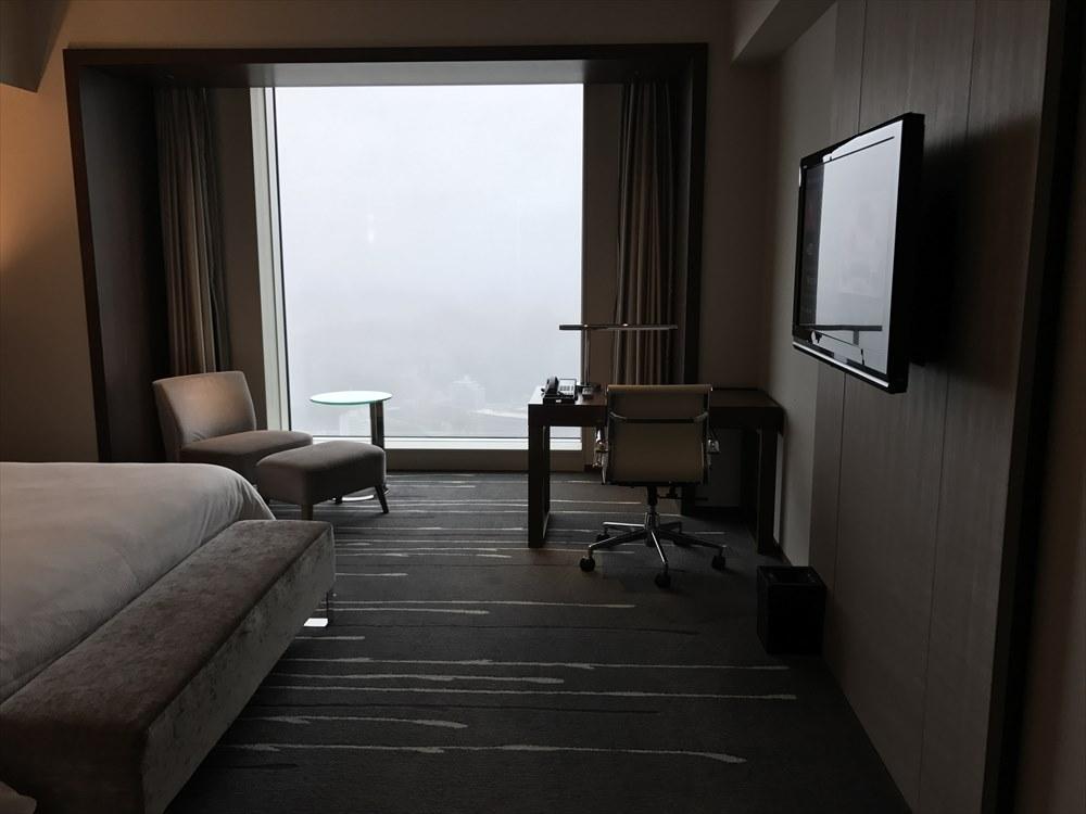 ウェスティンホテル仙台のデラックスルーム(窓側)