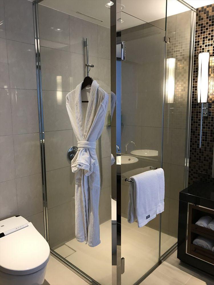 ウェスティンホテル仙台のデラックスルーム(シャワールーム)