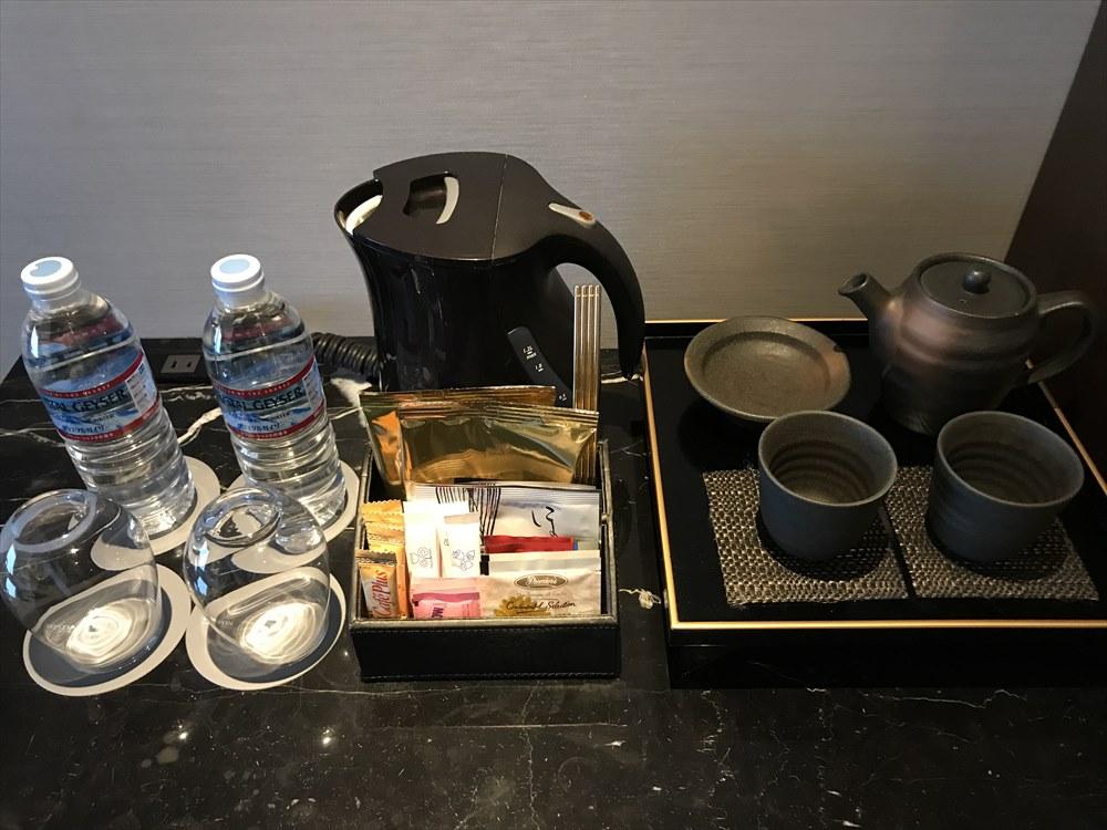 ウェスティンホテル仙台のデラックスルーム(ドリンク類)