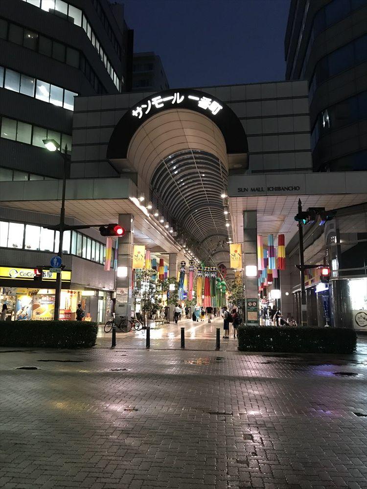 仙台のサンモール一番町