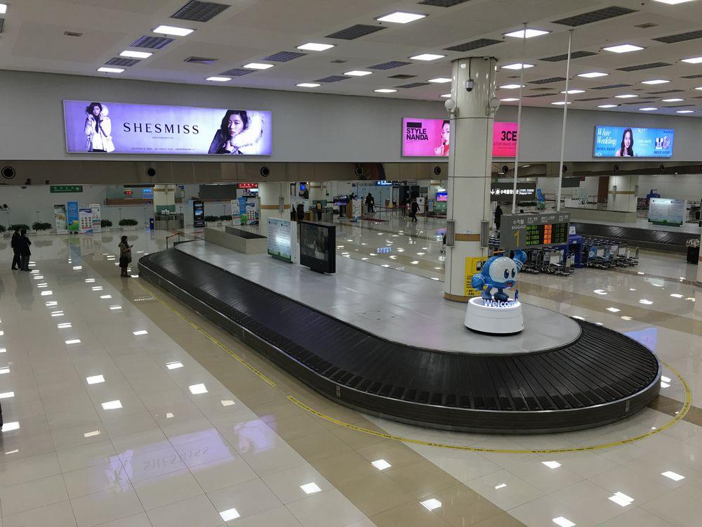金浦国際空港のターンテーブル