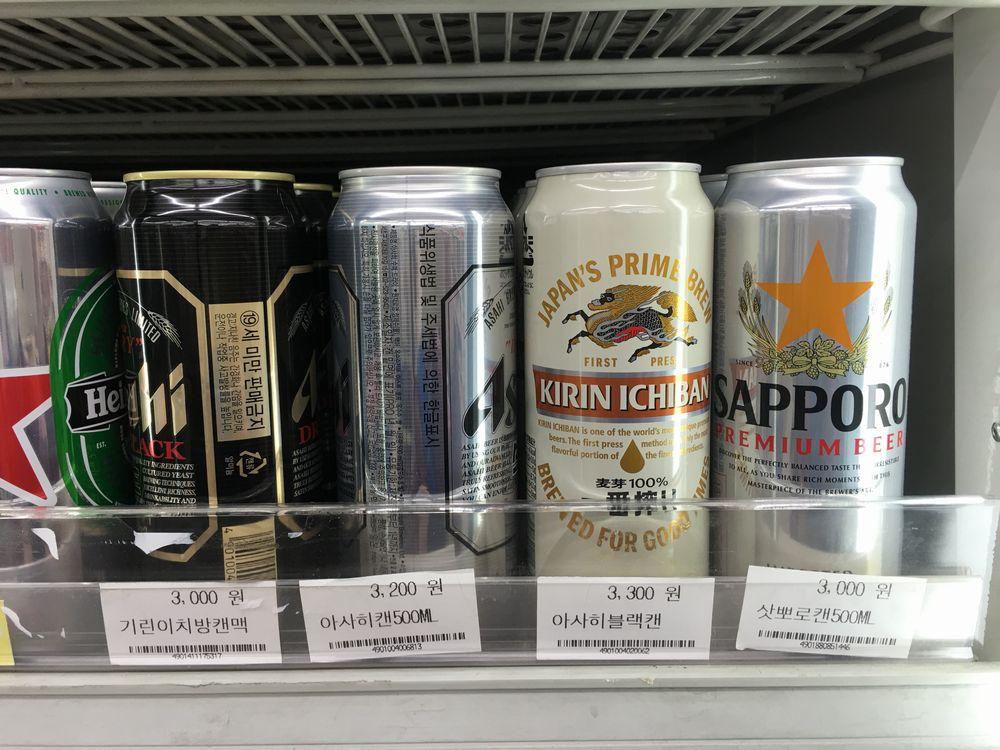 ソウルのGS25というコンビニのビール