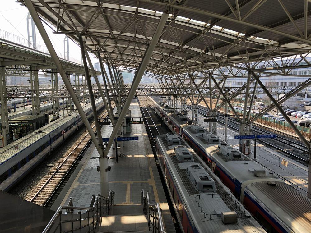 ソウル駅のKTXのホーム
