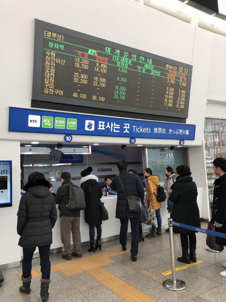 ソウル駅のKTXのきっぷ売り場