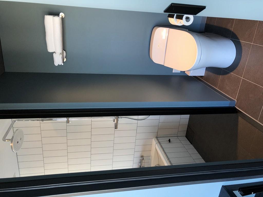 sequence MIYASHITA PARKのミヤシタパークビューのキングルームのトイレ