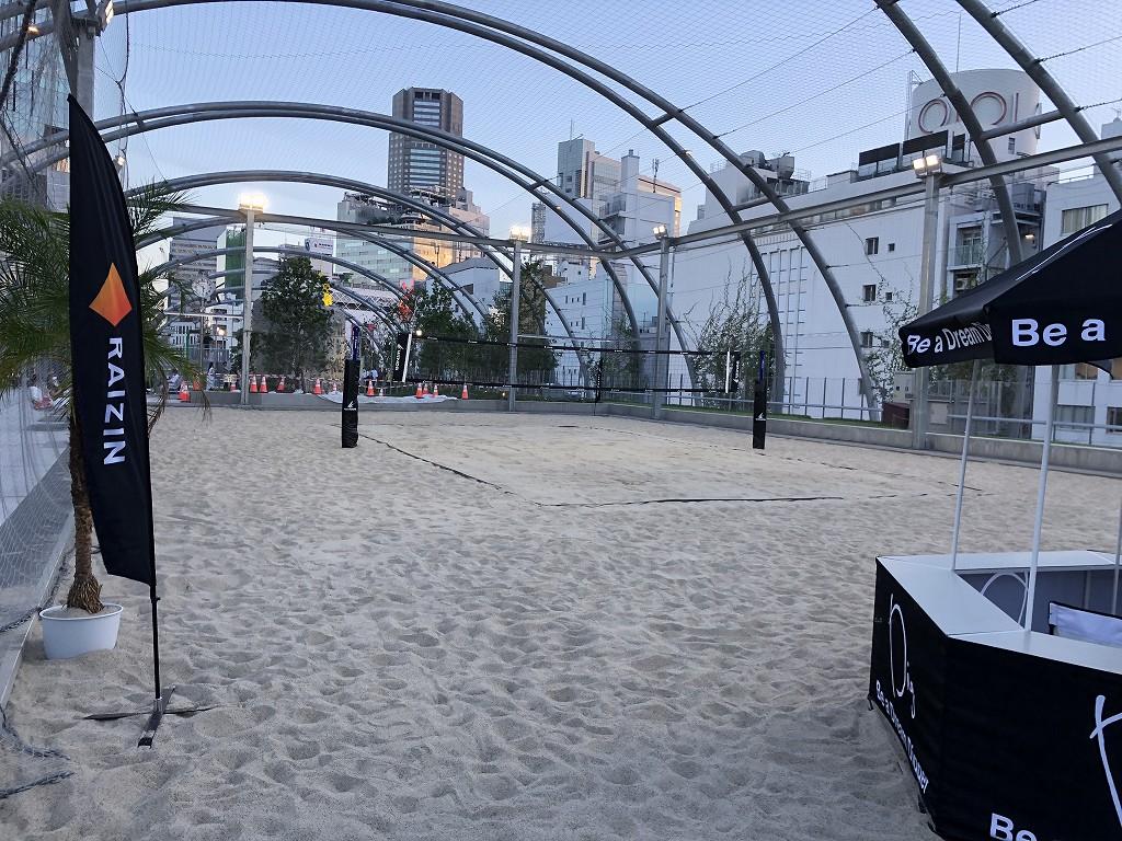 ミヤシタパークのビーチバレーコート