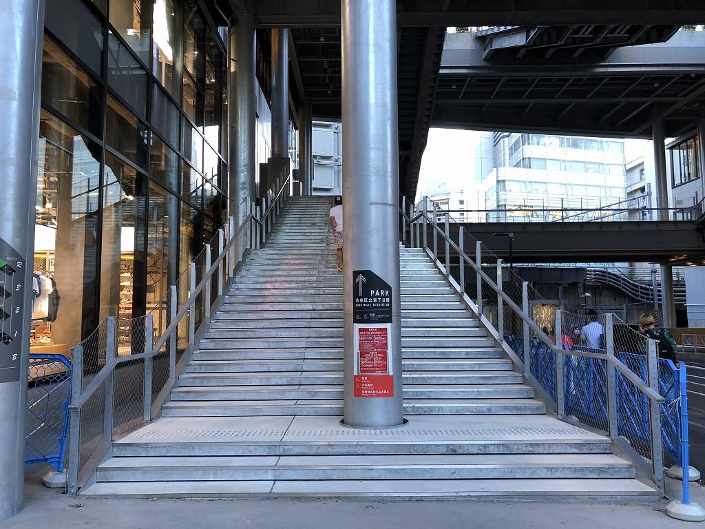 ミヤシタパークの階段