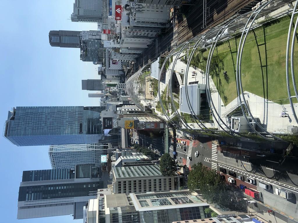 sequence MIYASHITA PARKのキングルームからの宮下公園の眺め