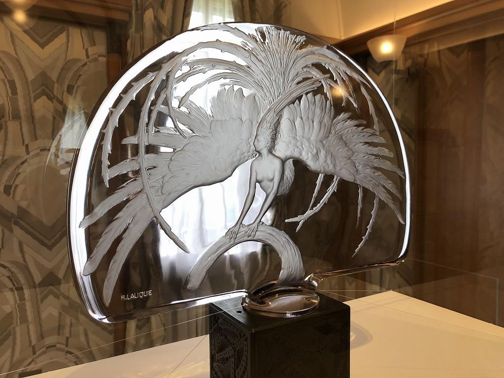 東京都庭園美術館のルネ・ラリックのテーブルセンターピース「火の鳥」