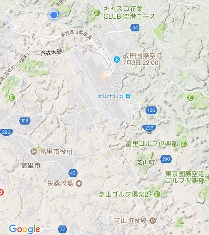 成田空港の南に位置する芝山町