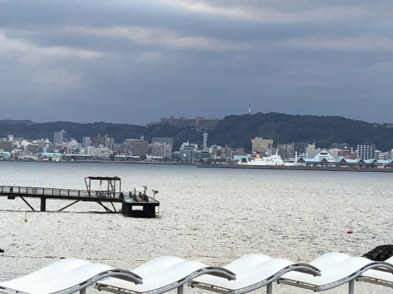 桜島フェリーターミナルから城山観光ホテル