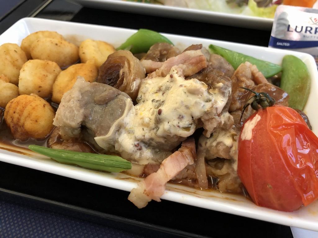 ANA861便ビジネスクラスの機内食3