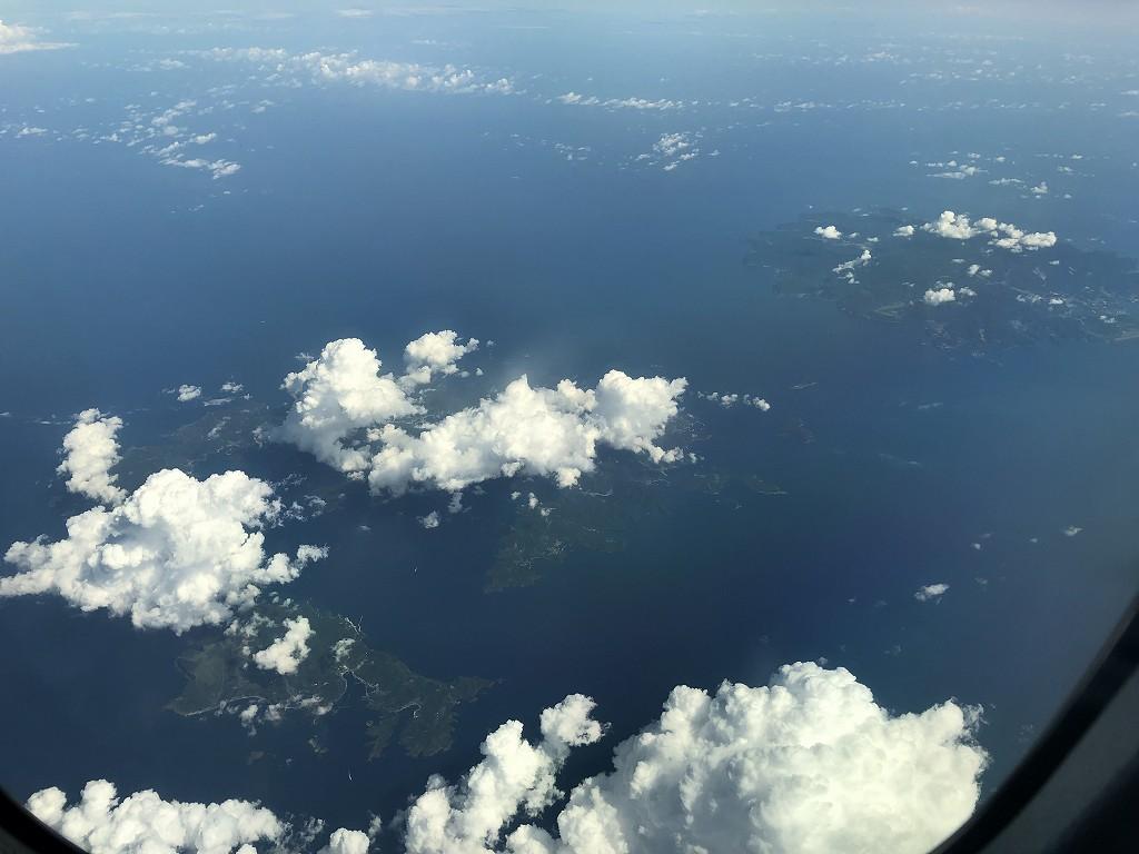 ANA861便から見た隠岐の島2